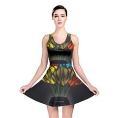 Flowers Painting Still Life Plant Reversible Skater Dress