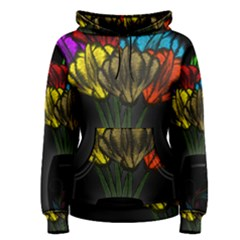 Flowers Painting Still Life Plant Women s Pullover Hoodie