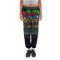 Flowers Painting Still Life Plant Women s Jogger Sweatpants