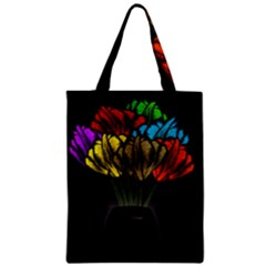 Flowers Painting Still Life Plant Zipper Classic Tote Bag