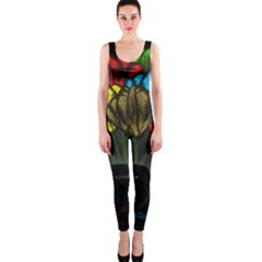 Flowers Painting Still Life Plant OnePiece Catsuit