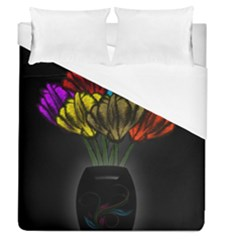 Flowers Painting Still Life Plant Duvet Cover (queen Size)
