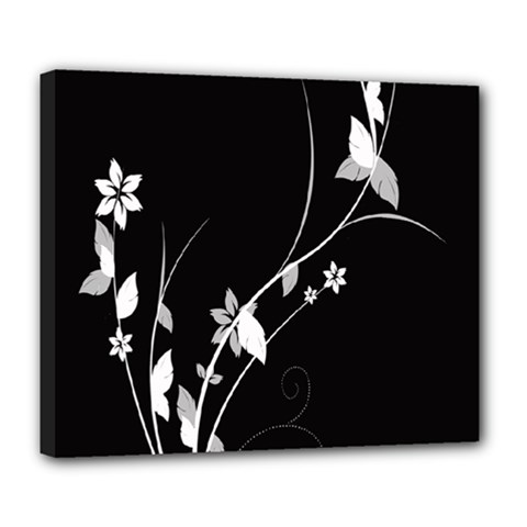 Plant Flora Flowers Composition Deluxe Canvas 24  x 20