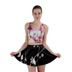 Plant Flora Flowers Composition Mini Skirt