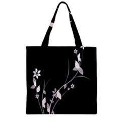 Plant Flora Flowers Composition Zipper Grocery Tote Bag