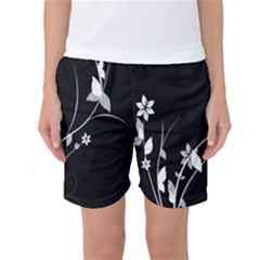 Plant Flora Flowers Composition Women s Basketball Shorts