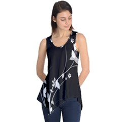 Plant Flora Flowers Composition Sleeveless Tunic