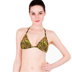 Earth Tones Geometric Shapes Unique Bikini Top