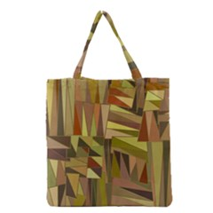 Earth Tones Geometric Shapes Unique Grocery Tote Bag