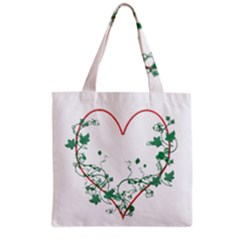 Heart Ranke Nature Romance Plant Grocery Tote Bag