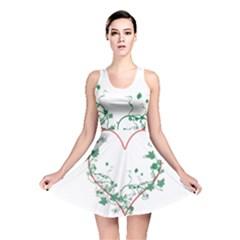 Heart Ranke Nature Romance Plant Reversible Skater Dress