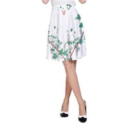 Heart Ranke Nature Romance Plant A Line Skirt