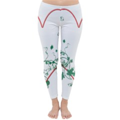 Heart Ranke Nature Romance Plant Classic Winter Leggings