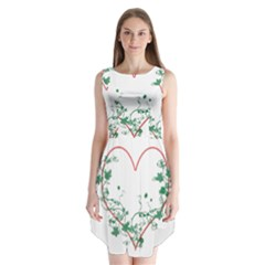 Heart Ranke Nature Romance Plant Sleeveless Chiffon Dress