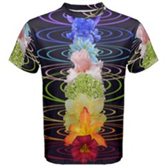 Chakra Spiritual Flower Energy Men s Cotton Tee