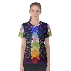Chakra Spiritual Flower Energy Women s Cotton Tee