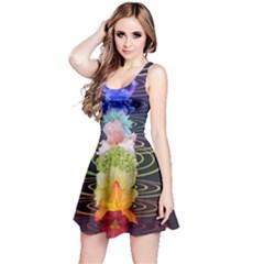 Chakra Spiritual Flower Energy Reversible Sleeveless Dress