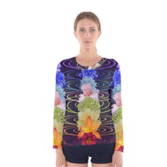 Chakra Spiritual Flower Energy Women s Long Sleeve Tee