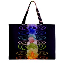 Chakra Spiritual Flower Energy Zipper Mini Tote Bag