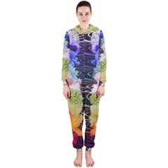 Chakra Spiritual Flower Energy Hooded Jumpsuit (Ladies)