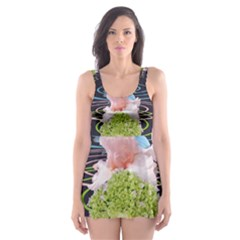 Chakra Spiritual Flower Energy Skater Dress Swimsuit