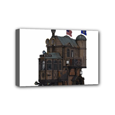 Steampunk Lock Fantasy Home Mini Canvas 6  X 4