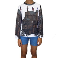 Steampunk Lock Fantasy Home Kids  Long Sleeve Swimwear