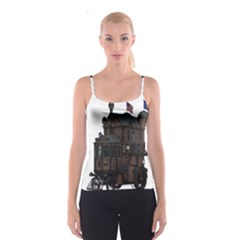 Steampunk Lock Fantasy Home Spaghetti Strap Top