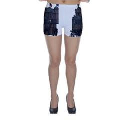 Steampunk Lock Fantasy Home Skinny Shorts