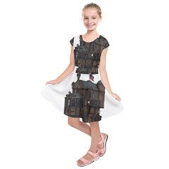 Steampunk Lock Fantasy Home Kids  Short Sleeve Dress