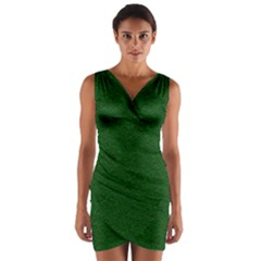 Texture Green Rush Easter Wrap Front Bodycon Dress