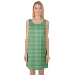 Green1 Sleeveless Satin Nightdress