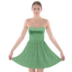Green1 Strapless Bra Top Dress