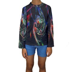 Abstraction Dive From Inside Kids  Long Sleeve Swimwear