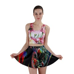 Abstraction Dive From Inside Mini Skirt