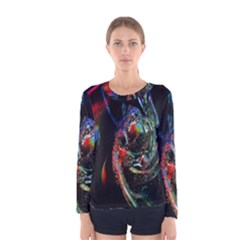 Abstraction Dive From Inside Women s Long Sleeve Tee