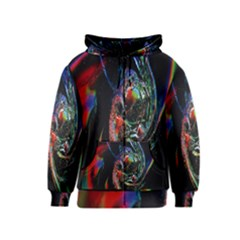 Abstraction Dive From Inside Kids  Zipper Hoodie