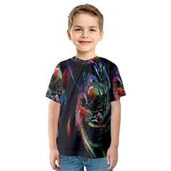 Abstraction Dive From Inside Kids  Sport Mesh Tee