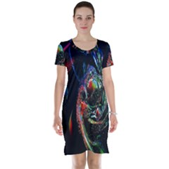 Abstraction Dive From Inside Short Sleeve Nightdress