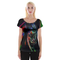 Abstraction Dive From Inside Women s Cap Sleeve Top