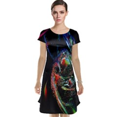 Abstraction Dive From Inside Cap Sleeve Nightdress