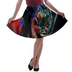 Abstraction Dive From Inside A Line Skater Skirt