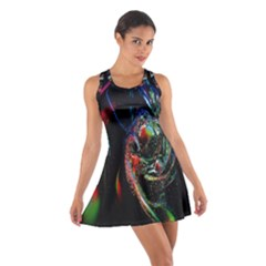 Abstraction Dive From Inside Cotton Racerback Dress