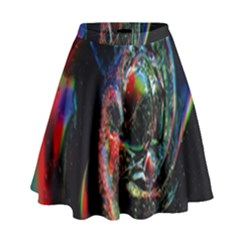 Abstraction Dive From Inside High Waist Skirt