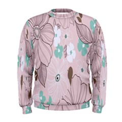 Background Texture Flowers Leaves Buds Men s Sweatshirt