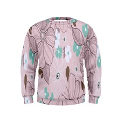 Background Texture Flowers Leaves Buds Kids  Sweatshirt