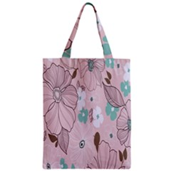 Background Texture Flowers Leaves Buds Zipper Classic Tote Bag