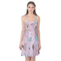 Background Texture Flowers Leaves Buds Camis Nightgown
