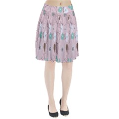 Background Texture Flowers Leaves Buds Pleated Skirt