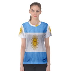 Argentina Texture Background Women s Sport Mesh Tee